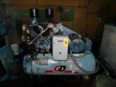 Gardner Denver 25 HP, 2-Stage Air Compressor, Tank Mounted, 120 Gallon Tank, Loading Fee $150.00