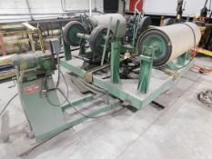 Clinton Machine Model 4STADECOIL 4-Station Decoiler with Power Rotating Base, SN J547-10-70, 4,000