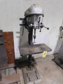 "Delta 17"" Floor-Mounted Drill Press, Step Pulley, 3 phs."