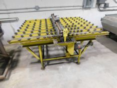 "Motorized Sheet Feeder, 60"" Width Cap., with Roller Conveyors Infeed and Outfeed"