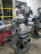 "Bridgeport Series I, 2 HP Vertical Mill, s/n BR283637, New 2002, 9"" X 48"" Table, Chrome Ways, Newall"