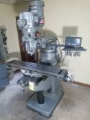 "Bridgeport Series I, 2 HP Vertical Mill, s/n BR284180, New 2002, 9"" X 48"" Table, Chrome Ways, Newall"