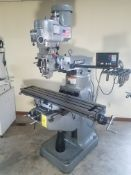 "Bridgeport Series I, 2 HP Vertical Mill, s/n BR283055, New 2002, 9"" X 48"" Table, Chrome Ways, Newall"