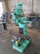 "Bridgeport Series I, 2 HP Vertical Mill, s/n BR96723, New 2002, 9"" X 42"" Table, TPAC D.R.O."