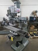 "Bridgeport Series I, 2 HP Vertical Mill, s/n BR284086, New 2002, 9"" X 48"" Table, Chrome Ways, Newall"