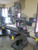 "Bridgeport Series I, 2 HP Vertical Mill, s/n BR284187, New 2002, 9"" X 48"" Table, Chrome Ways, Newall"
