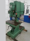 Johannson Tool Room Radial Arm Drill, s/n 32874, Reversing, Tapping Cycle