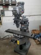 "Bridgeport Series I, 2 HP Vertical Mill, s/n BR284246, New 2002, 9"" X 48"" Table, Chrome Ways"