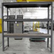 """Section 110"""" x 34"""" x 108""""H Steel Shelving"""