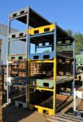 Lot-Steel Stock Stackable Racks Outside, (No Baskets, Stairs, or Items), (Located Plant 1 Outside in