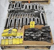 Lot, Hold Down Fixtures and Clamps in (1) Box and on (1) Pallet