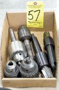 Lot-(4) Various Drill Chucks and (2) Holders in (1) Box