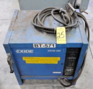 Exide Model E53-18-1050, 36-Volts x 168-Amp Capacity Industrial Battery Charger, s/n Unknown, with