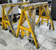 """Pair Bison Model Custom Working Stands, 60"""" W x 48"""" H x 15,000 Lbs. Capacity, s/n's C01503-1 and"""