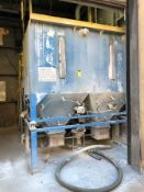 Dust Injection System with 2- 4000 Lb. hoppers and support on load cells with Mettler scale