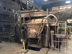Whiting 17 Ton Arc Furnace, water cooled, roof, roof ring, side panels, slag door, arms