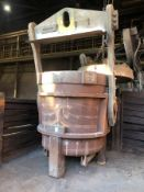 """Whiting non geared 34 Ton Bottom Pour Ladle with bail and pouring mechanism, 65"""" diameter x 69"""""""