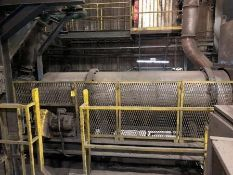 """Rotary Drum Dryer. 32"""" diameter x approx. 13' long with burner and gas system"""