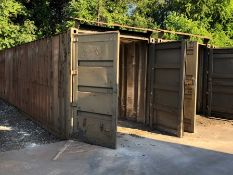 8- 40' sea containers, Note: Magnet strored in one container not included in lot