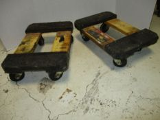 (2) Haul Master 4-Wheel Mini Dollies, 1,000 lb. cap.