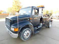 "1998 International 4700 Medium Duty Tow Truck, 152"" Wheel Base, DT466 Engine, 6 Plus Manual"