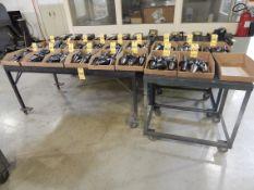 (3) Portable Tables on Castors (NO CONTENTS)
