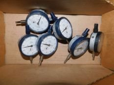 (6) Mitutoyo Dial Indicators with Lug Back