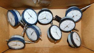 (9) Mitutoyo Dial Indicators with Lug Backs