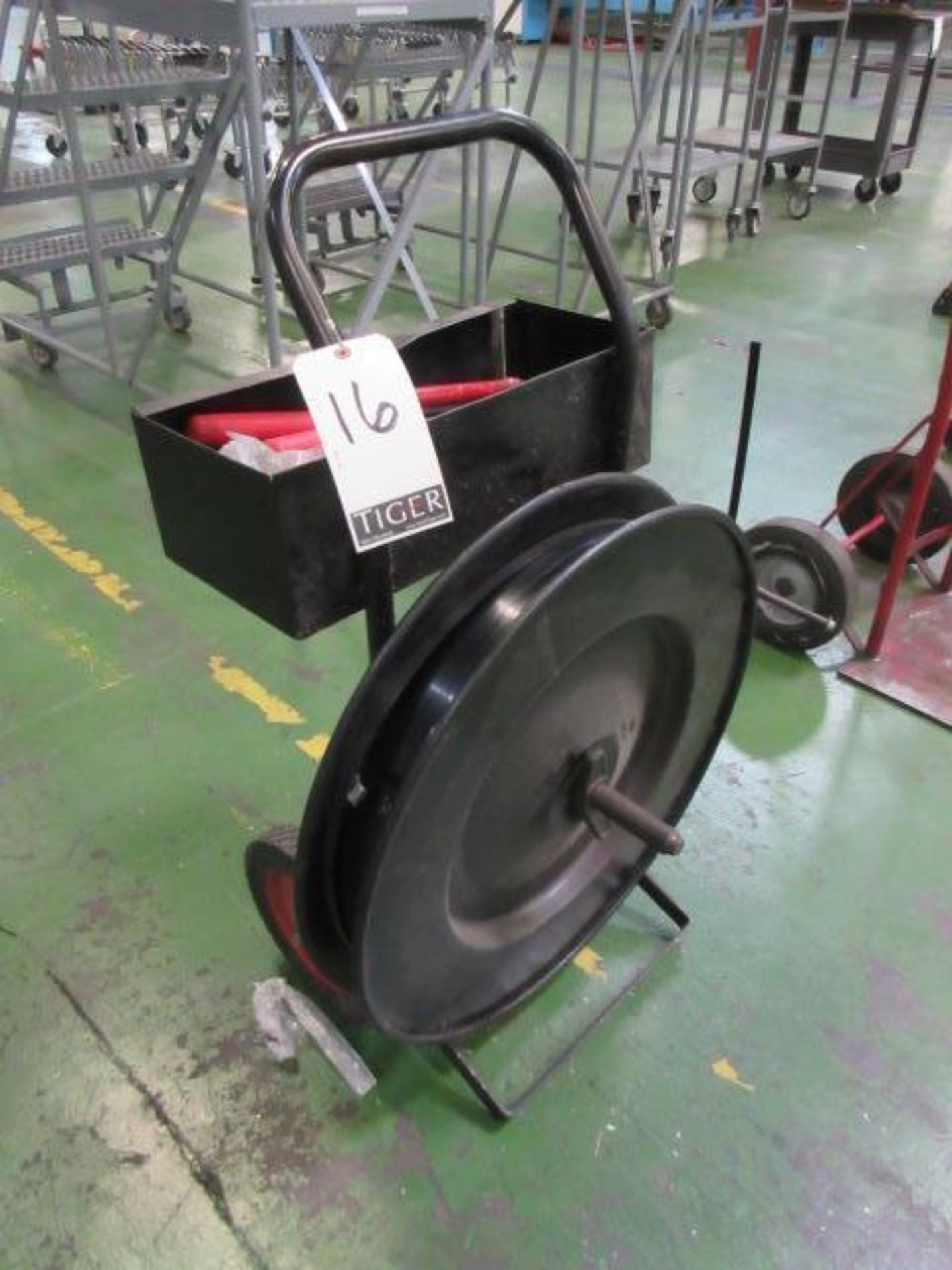 Lot 16 - Industrial Steel Strapping Cart