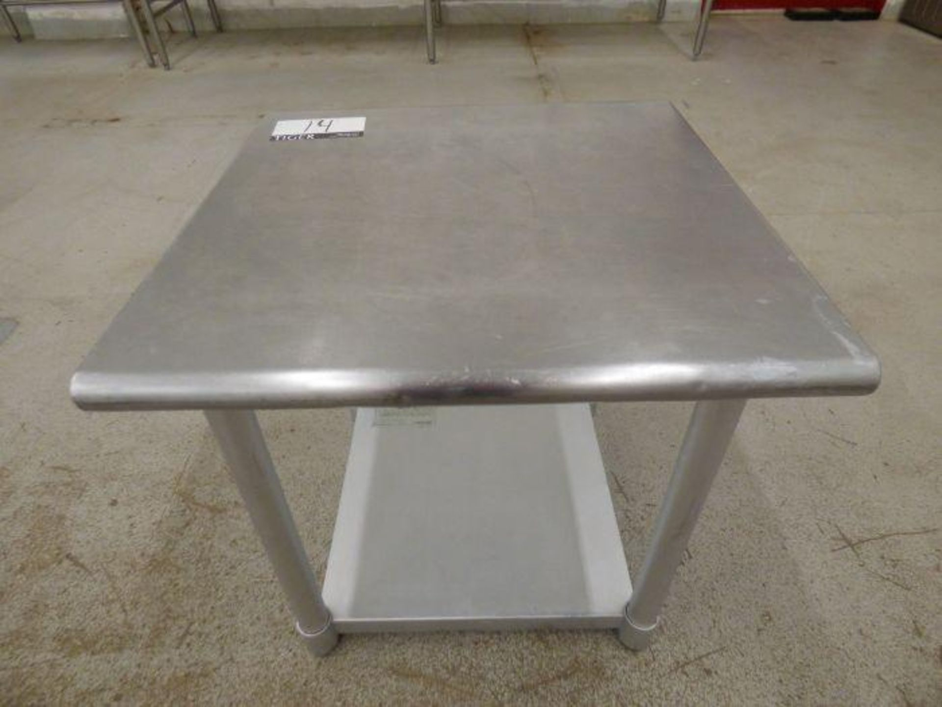Lot 1014 - Stainless Steel Table