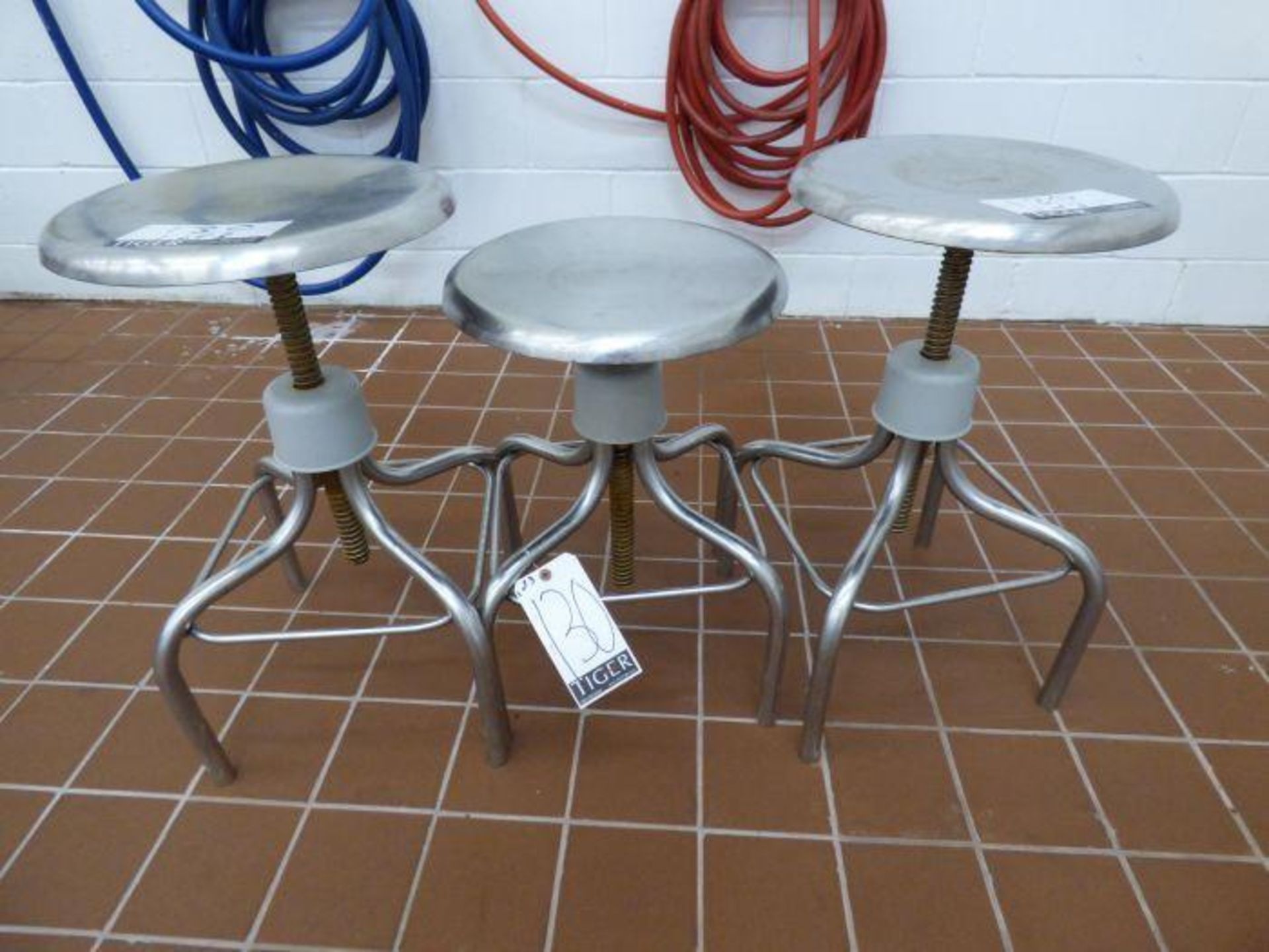 Lot 1130 - Lot of Stainless Steel Stools