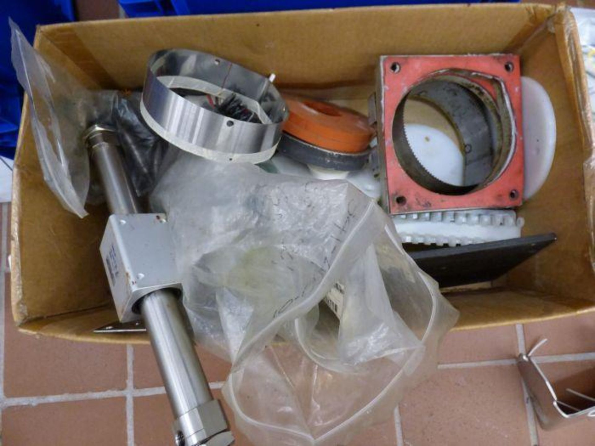 Lot 1108 - Orics Microprocessor Controlled Stainless Steel Cup Sealing Machine with Elevator and Spare Parts
