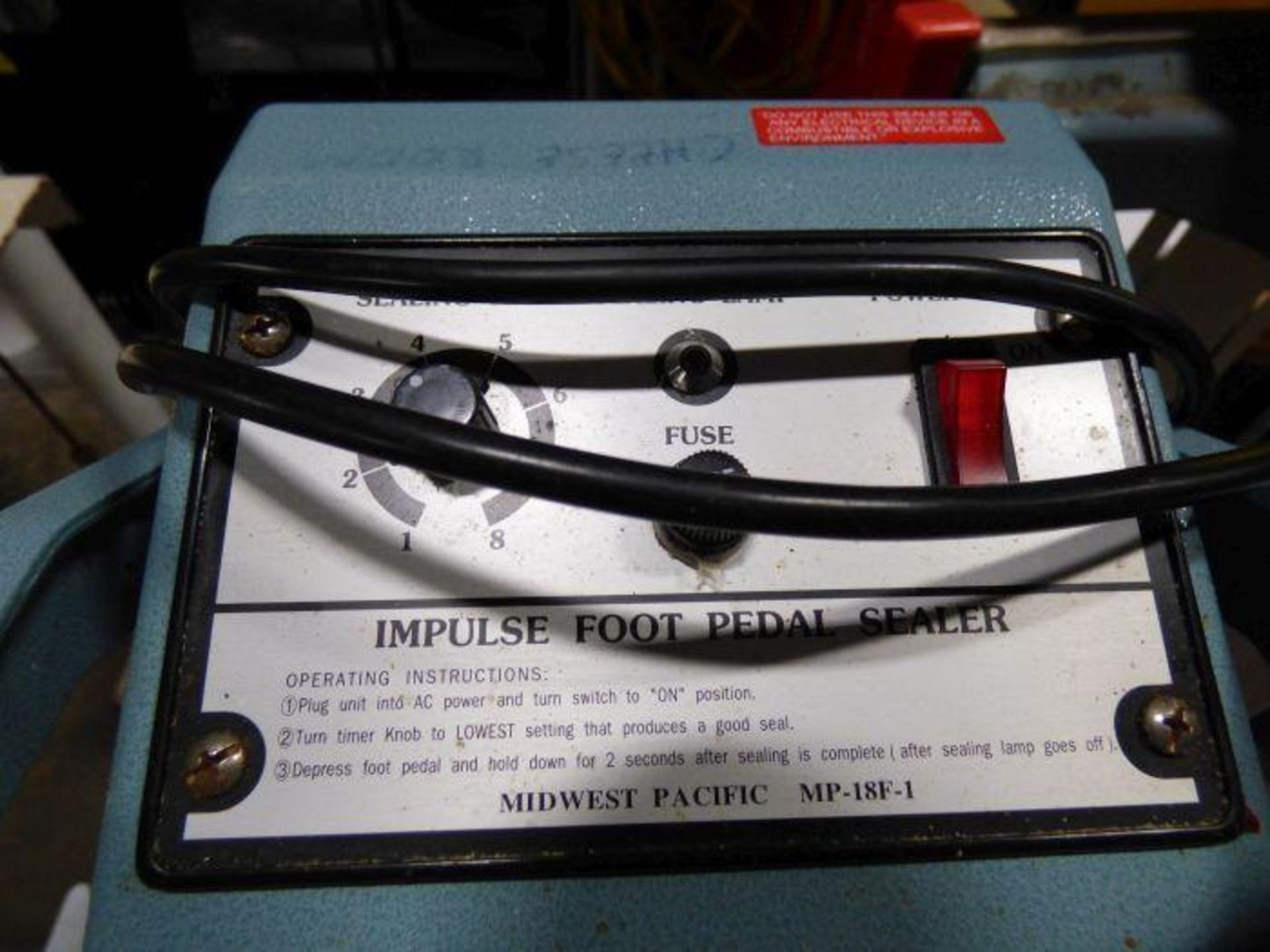 Lot 1140 - Lot Impulse Foot Pedal Sealers and Hand Sealer