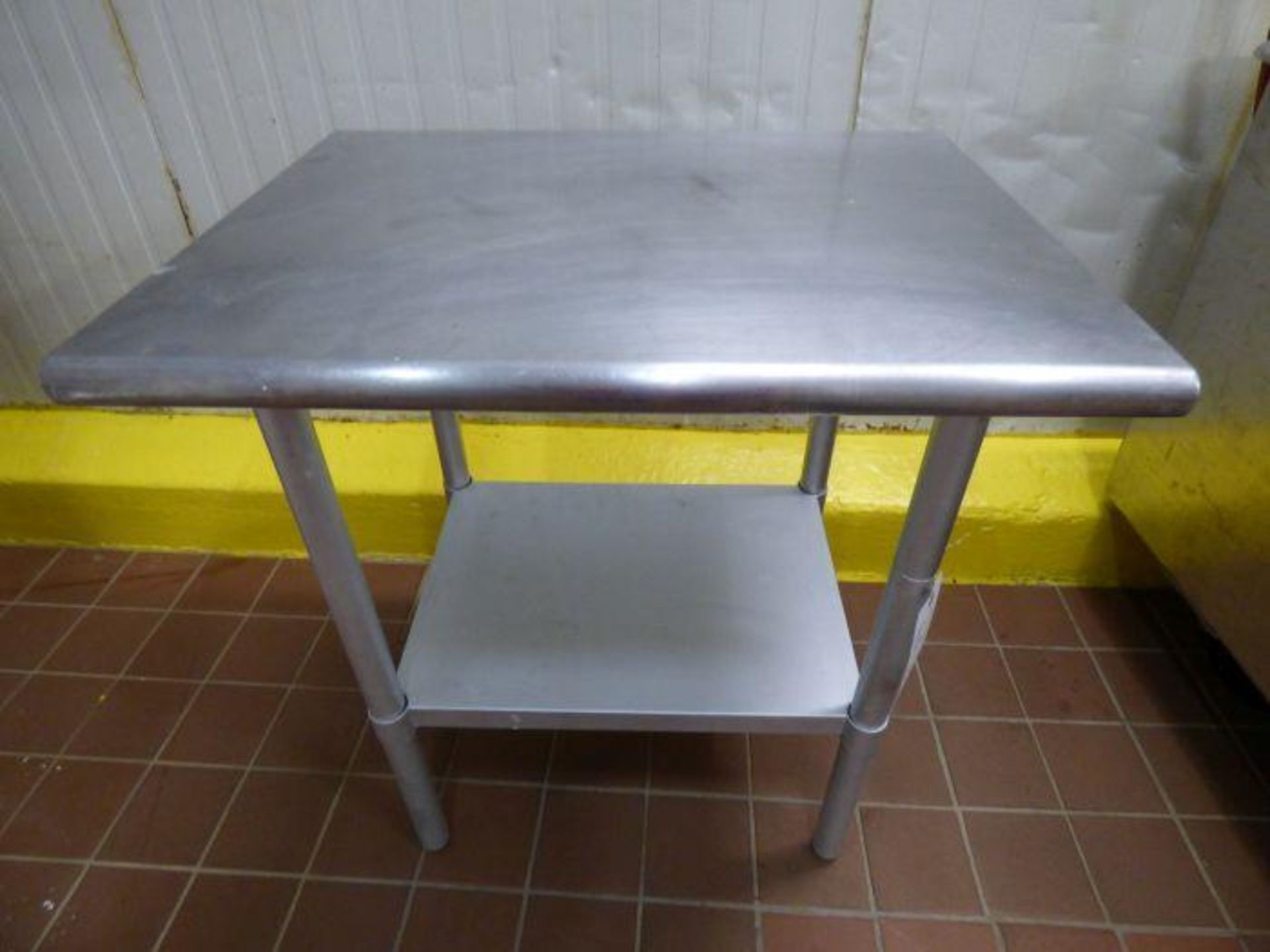 Lot 1051 - Stainless Steel Table
