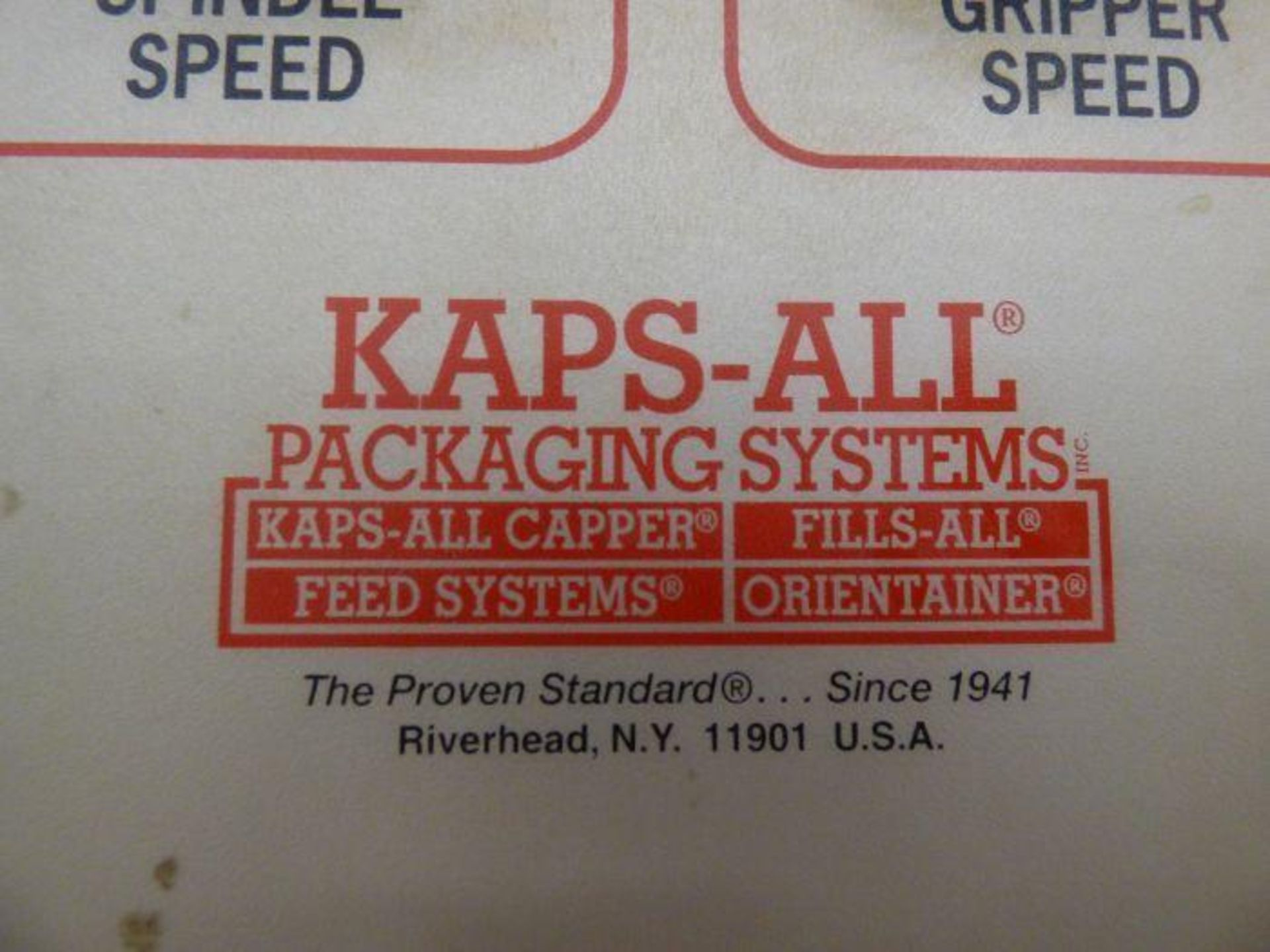 Lot 1218 - Kaps-All Stainless Steel Horizontal Cap Torquer with Spare Parts