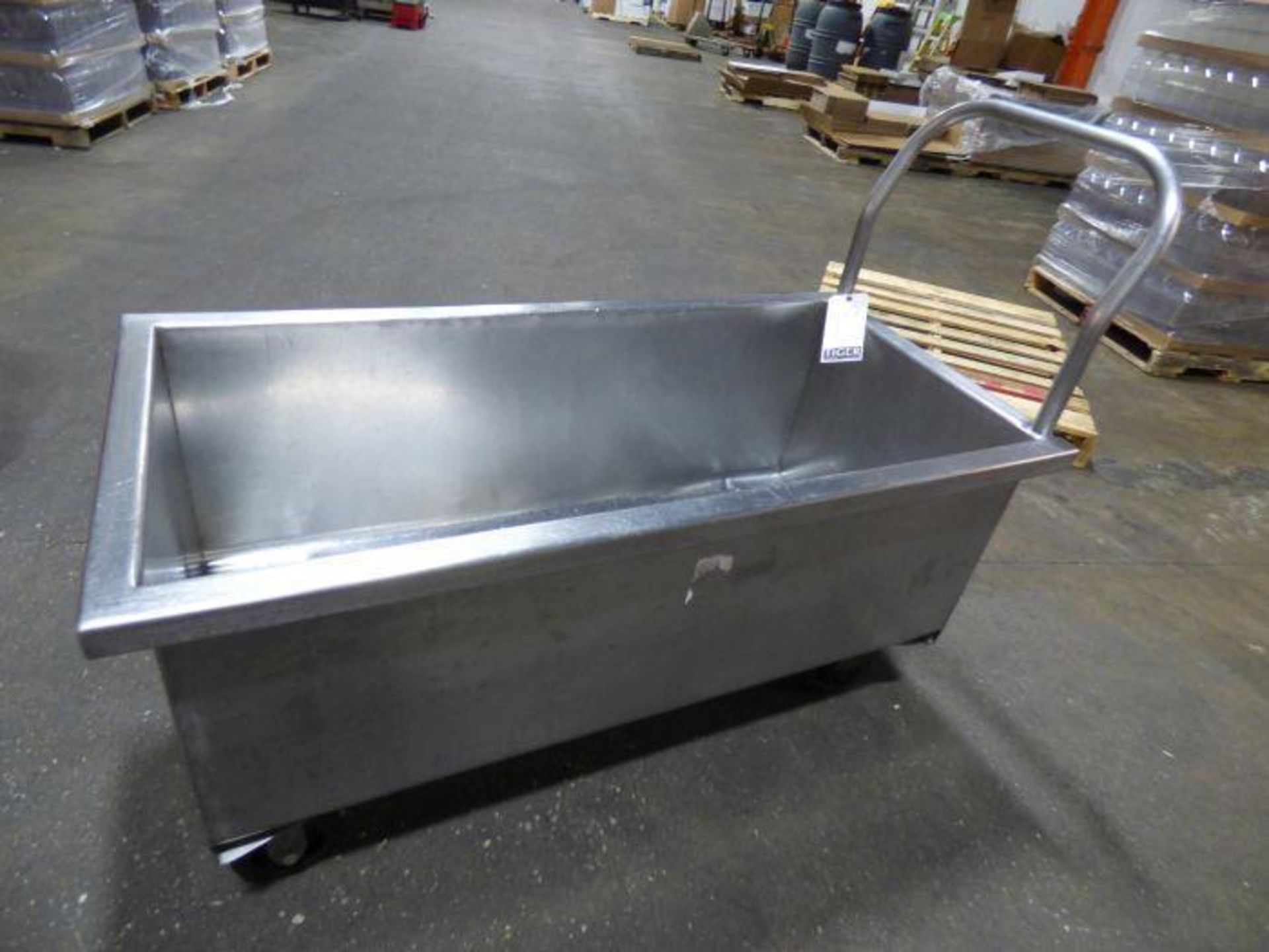 Lot 1019 - Stainless Steel Rolling Tub