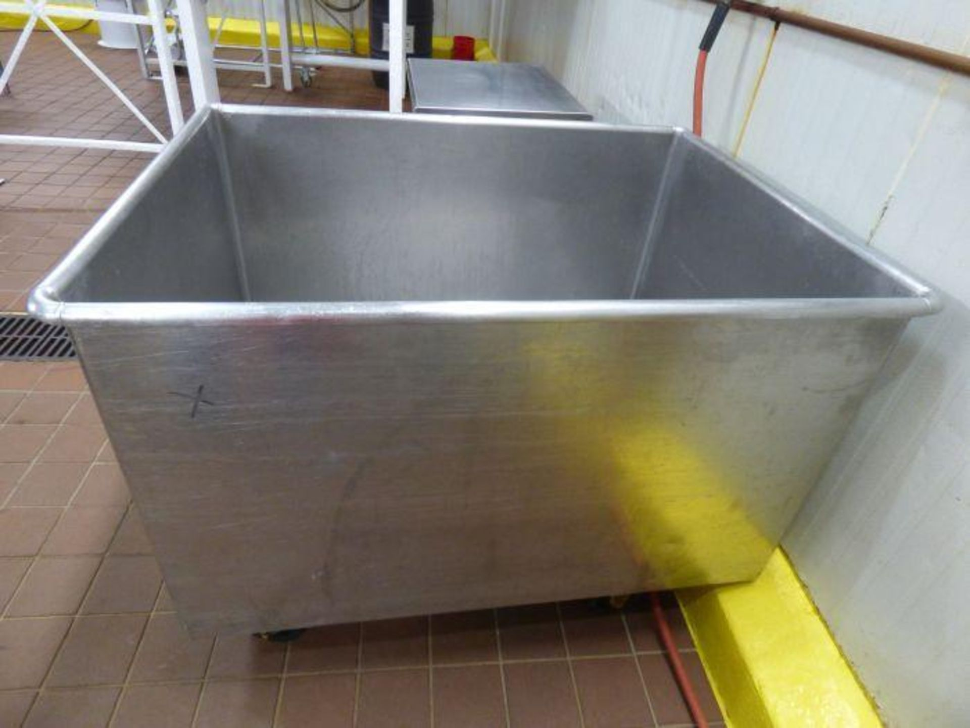 Lot 1052 - Stainless Steel Rolling Tub