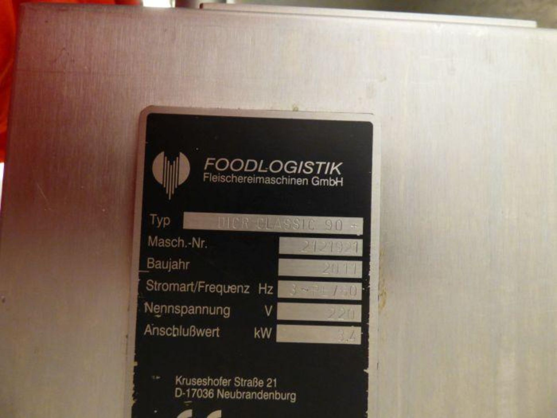 Lot 1137 - 2011 Foodlogistik Stainless Steel Classic 90+ Series Dicer