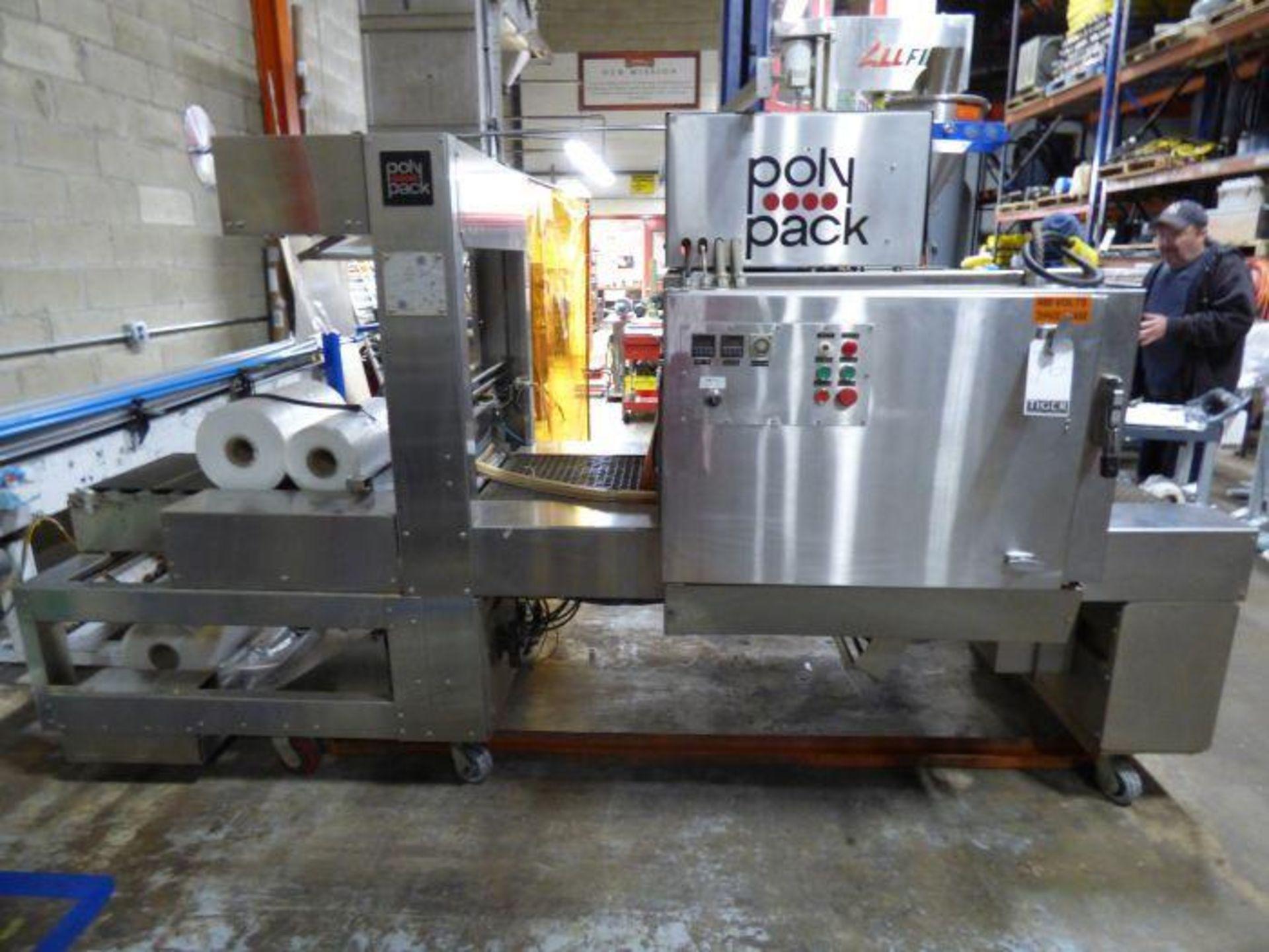 Lot 1076 - Dual Roll Stainless Steel Shrinkwrapper/Tunnel