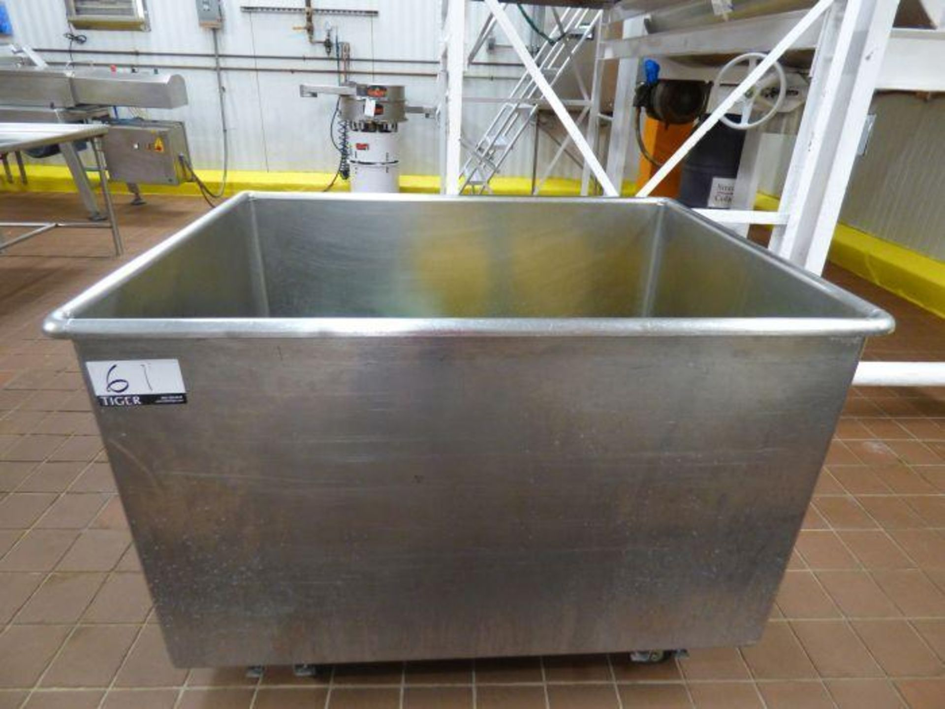 Lot 1061 - Stainless Steel Rolling Tub