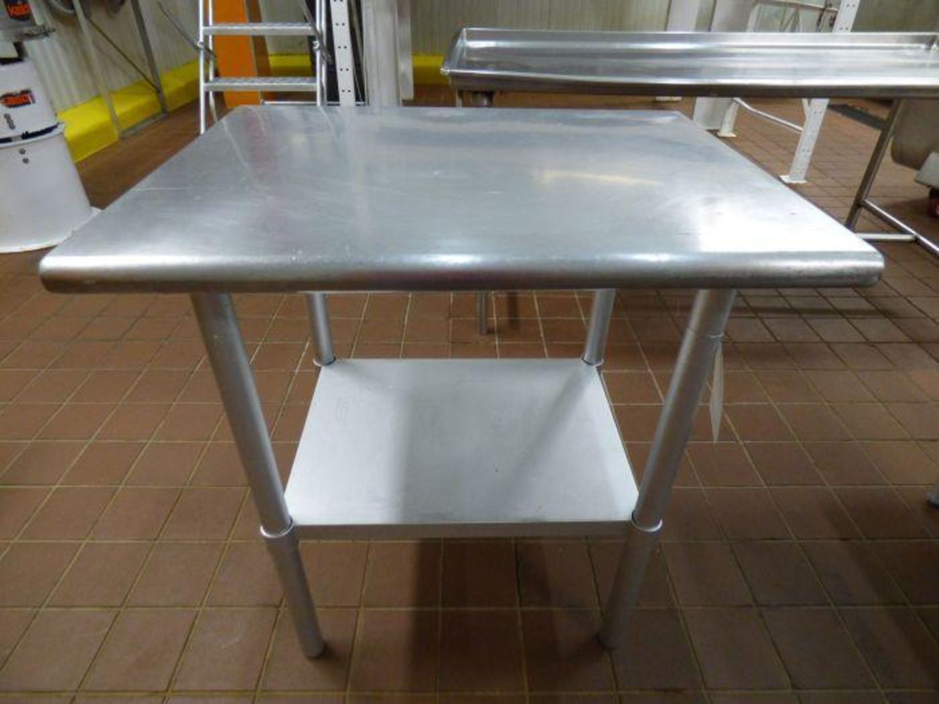 Lot 1055 - Stainless Steel Table