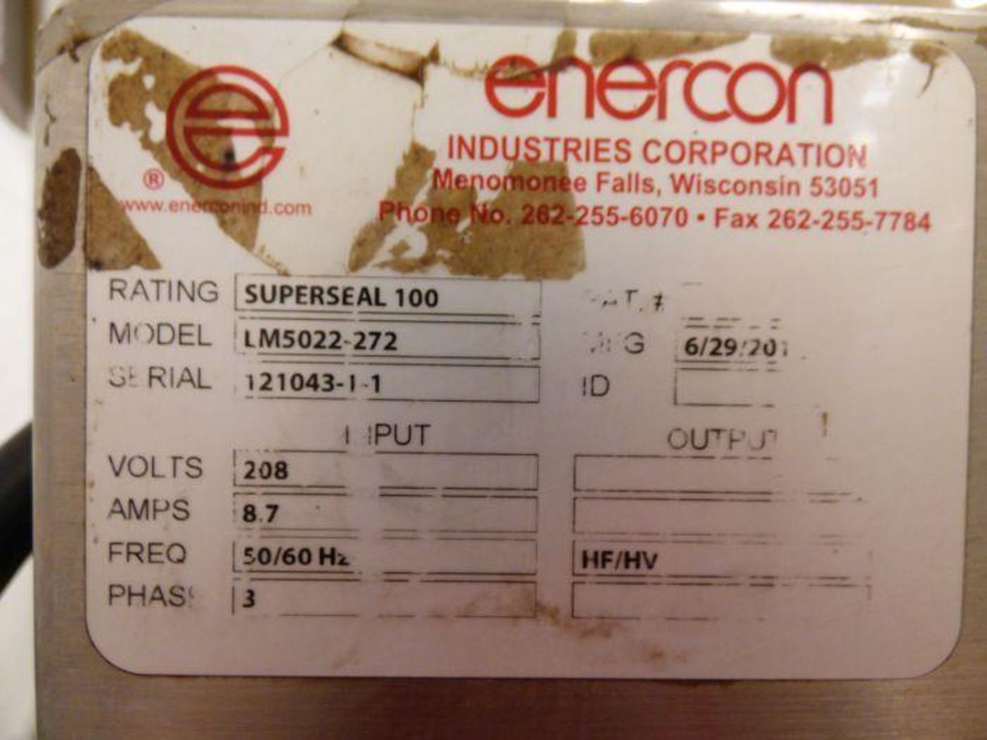 Enercon Super Seal Touch 100 with Spare Parts - Image 3 of 17