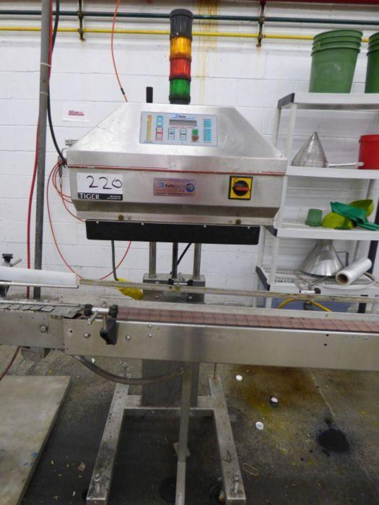 Lot 1220 - Automate Technology Stainless Steel Induction Sealing Machine with Conveyor