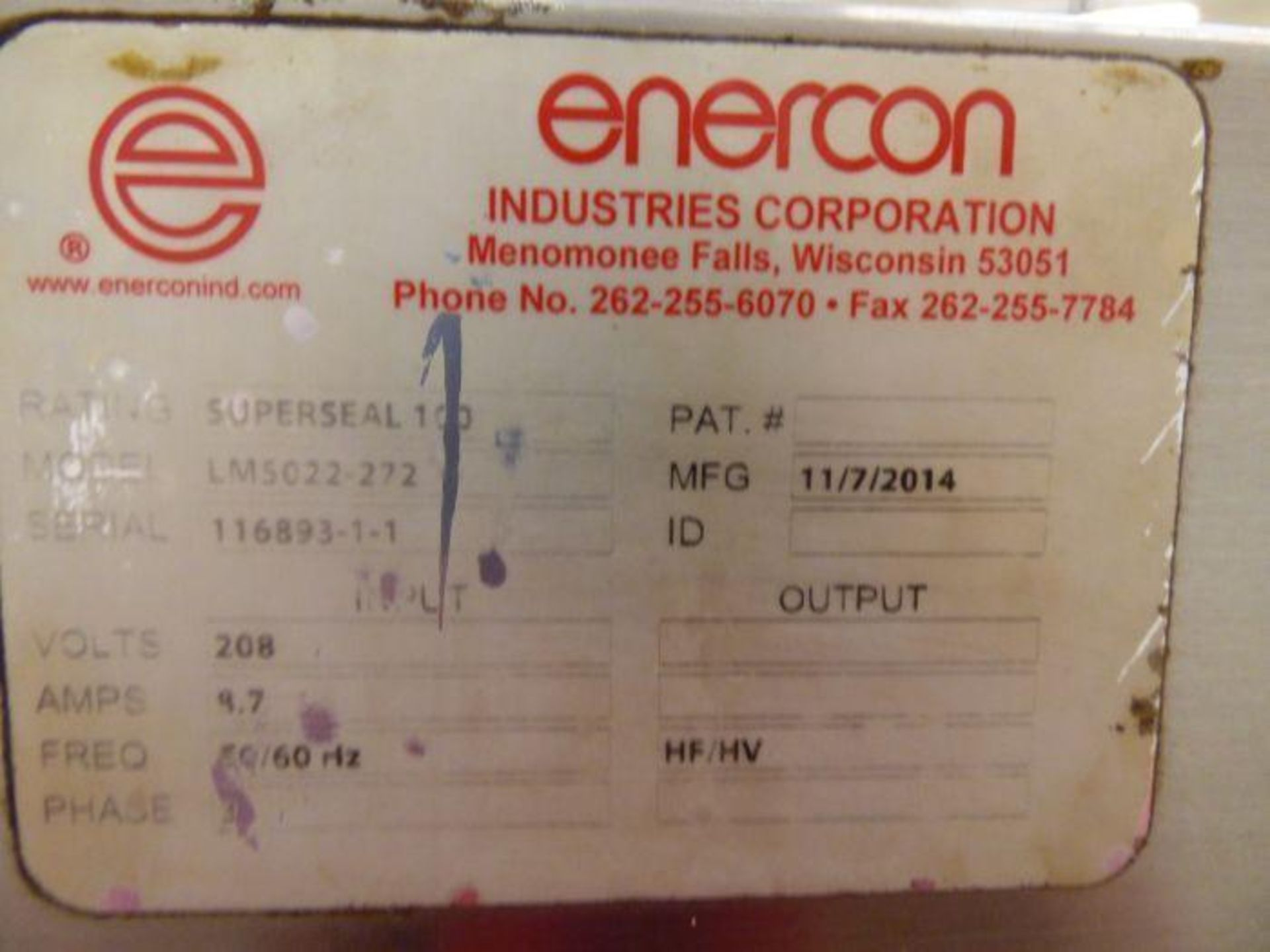 Enercon Super Seal Touch 100 with Spare Parts - Image 6 of 17