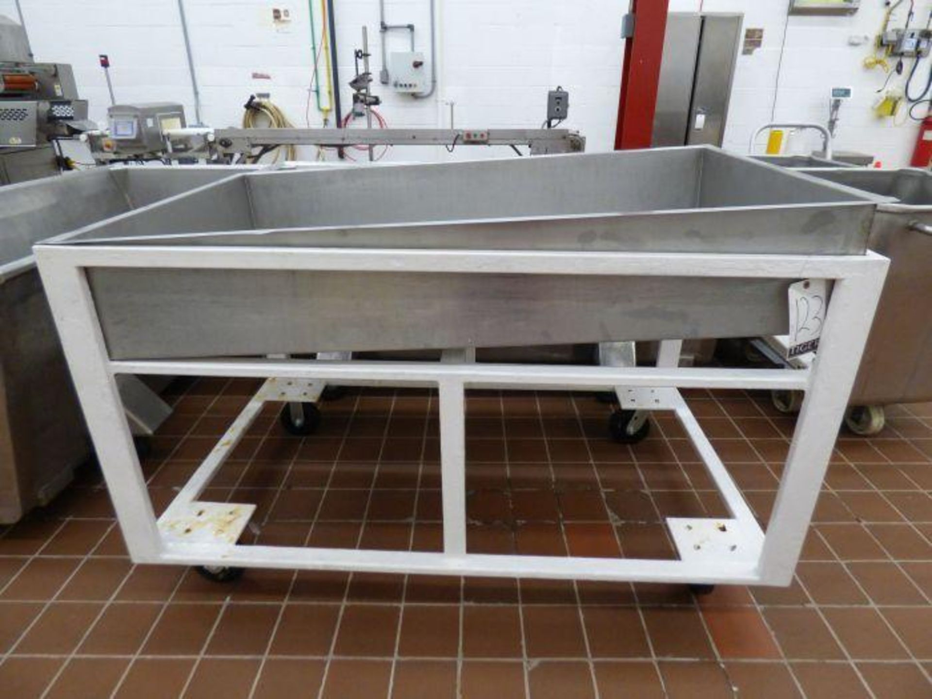 Lot 1123 - Stainless Steel Drain Table