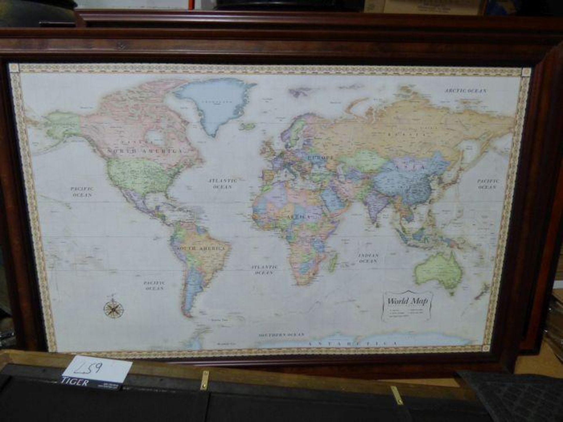 Lot 1259 - Lot Framed Maps