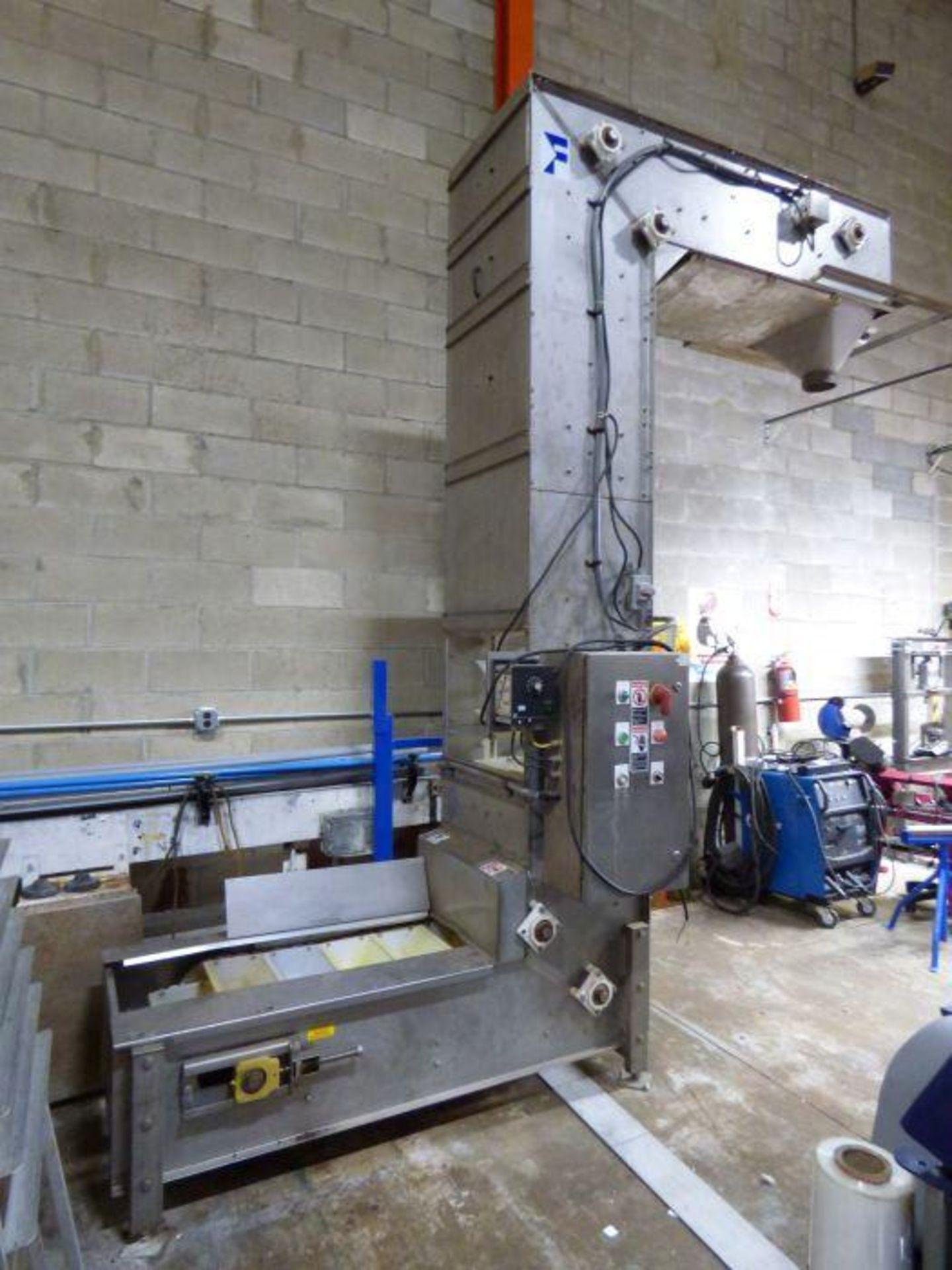 Lot 1064 - Stainless Steel Bucket Elevator