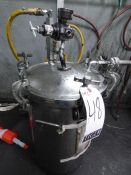 (3) Stainlees Steel Pressure Vessels with Agitators