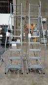 6-Step Rolling Work Platform Ladders