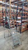 12-Step Rolling Work Platform Ladder